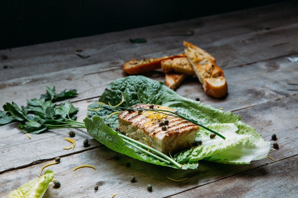 Grilled Halibut with Vinaigrette