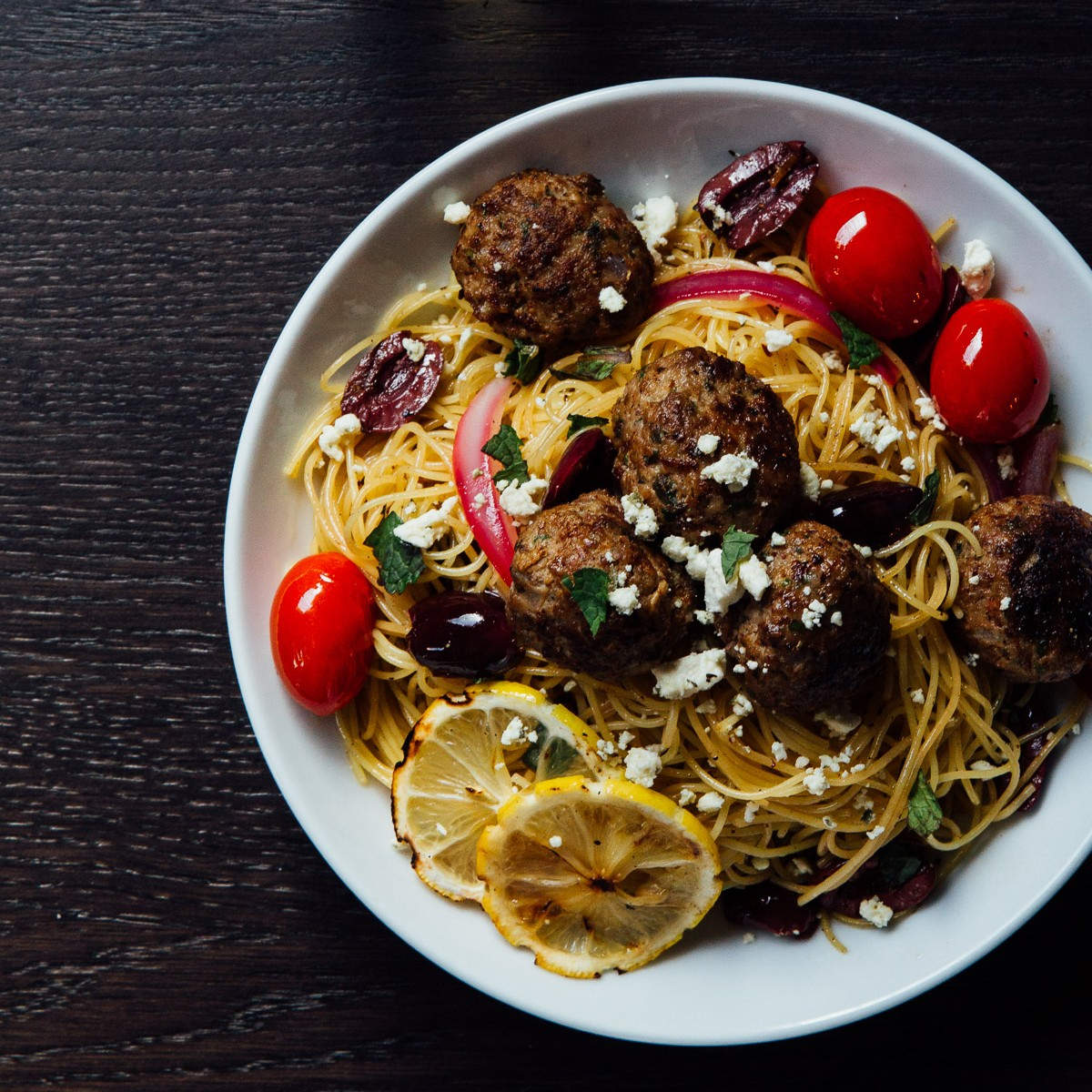 Angel Hair Pasta with Lamb Meatballs   Premier Meat Company