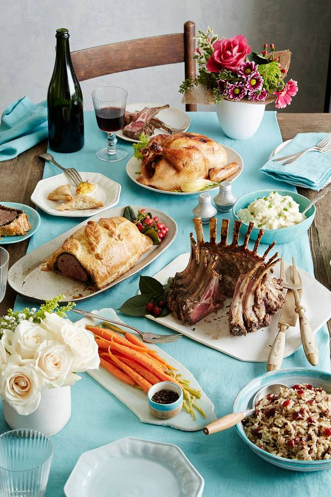 christmas dinner beef wellington lamb crown roast roasted chicken wine pairings