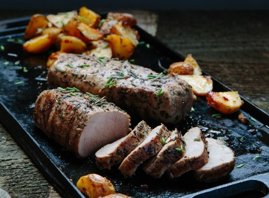 Premier Meat Company all natural pork tenderloin. No Hormones, No antibiotics.
