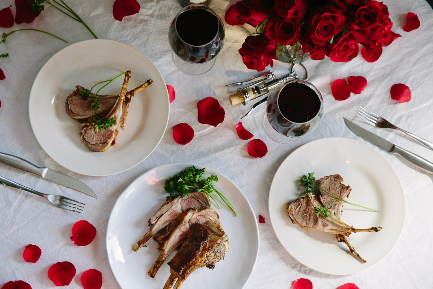 Lamb Rack Lollipop Chops make a romantic and impressive valentine's day home dinner. Follow this recipe, win her heart.