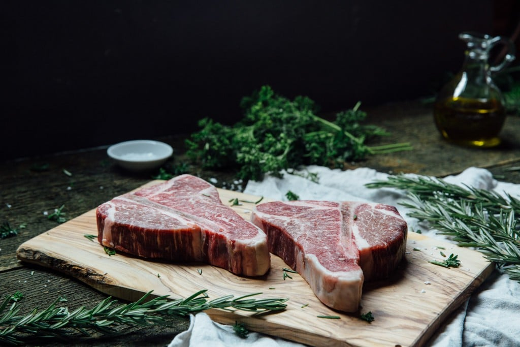 Premier Meat Company Porterhouse dry age steaks come one inch thick and ready to grill to perfection! USDA Choice beef delivery fresh meat to your door.