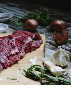 2 (8oz) Outside Skirt Steak Defatted California Grass Fed-270