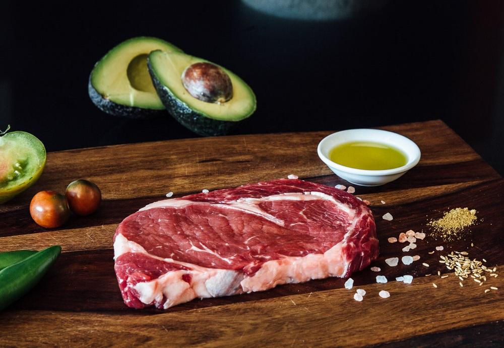 premier meat company rib eye raw sustainable grass fed