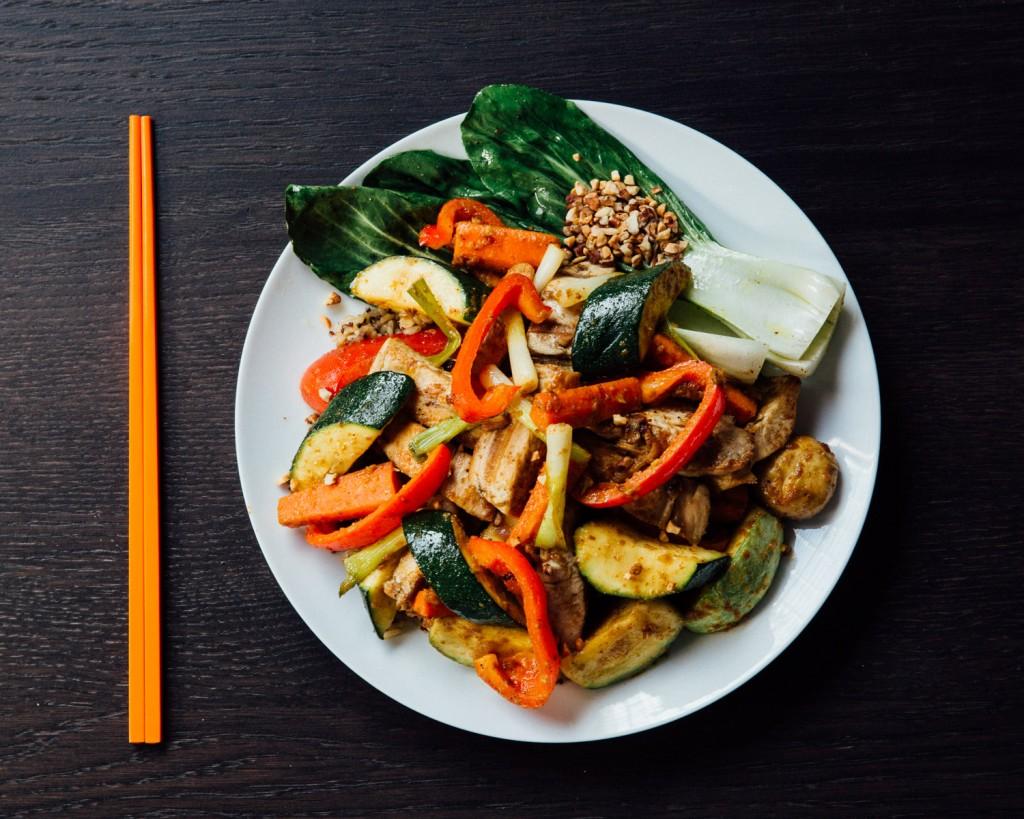 Chicken Stir Fry with Thai Peanut Sauce Premier Meat Company Free Range