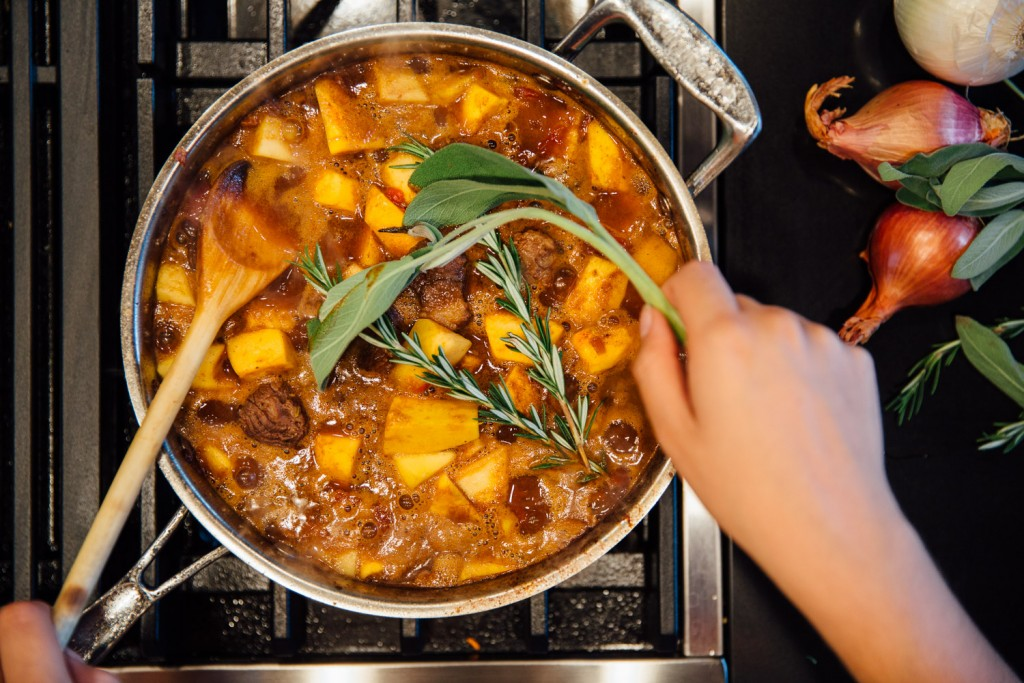 Premier Meat Company pumpkin beef stew thanksgiving recipe fall dinners meal idea fresh beef delivery high quality protein sustainable meat
