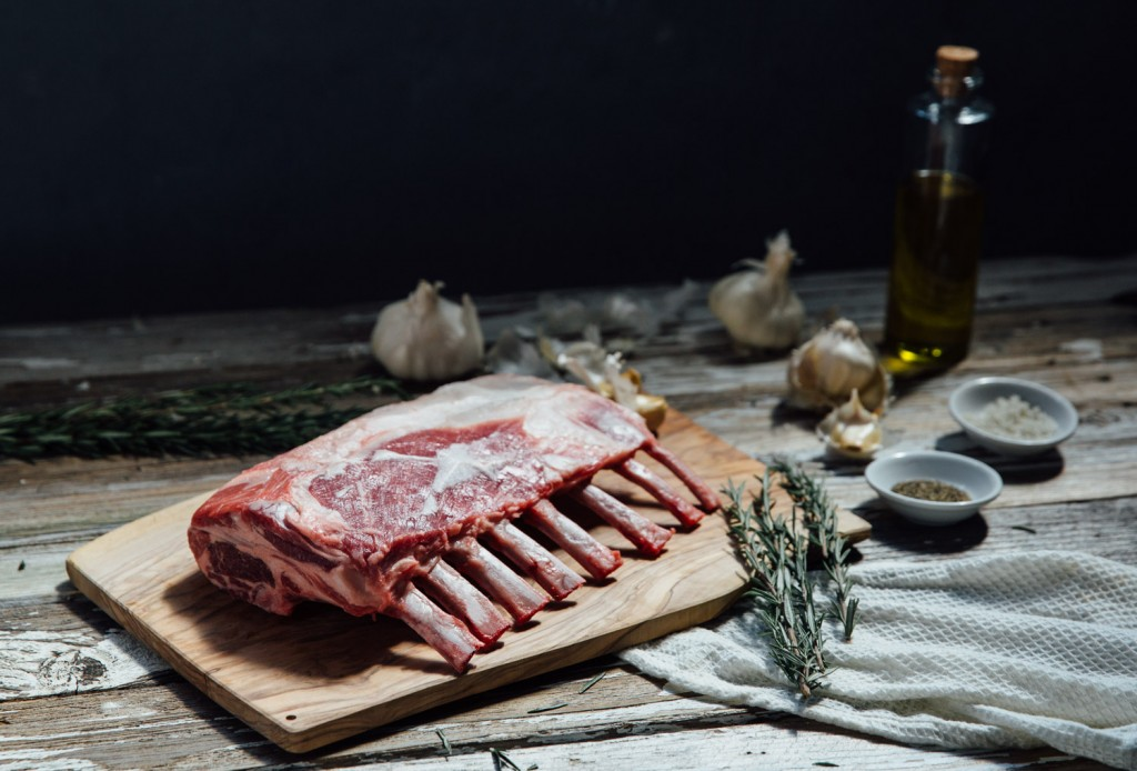 premier meat company lamb rack raw shot sustainable humanely raised family farm