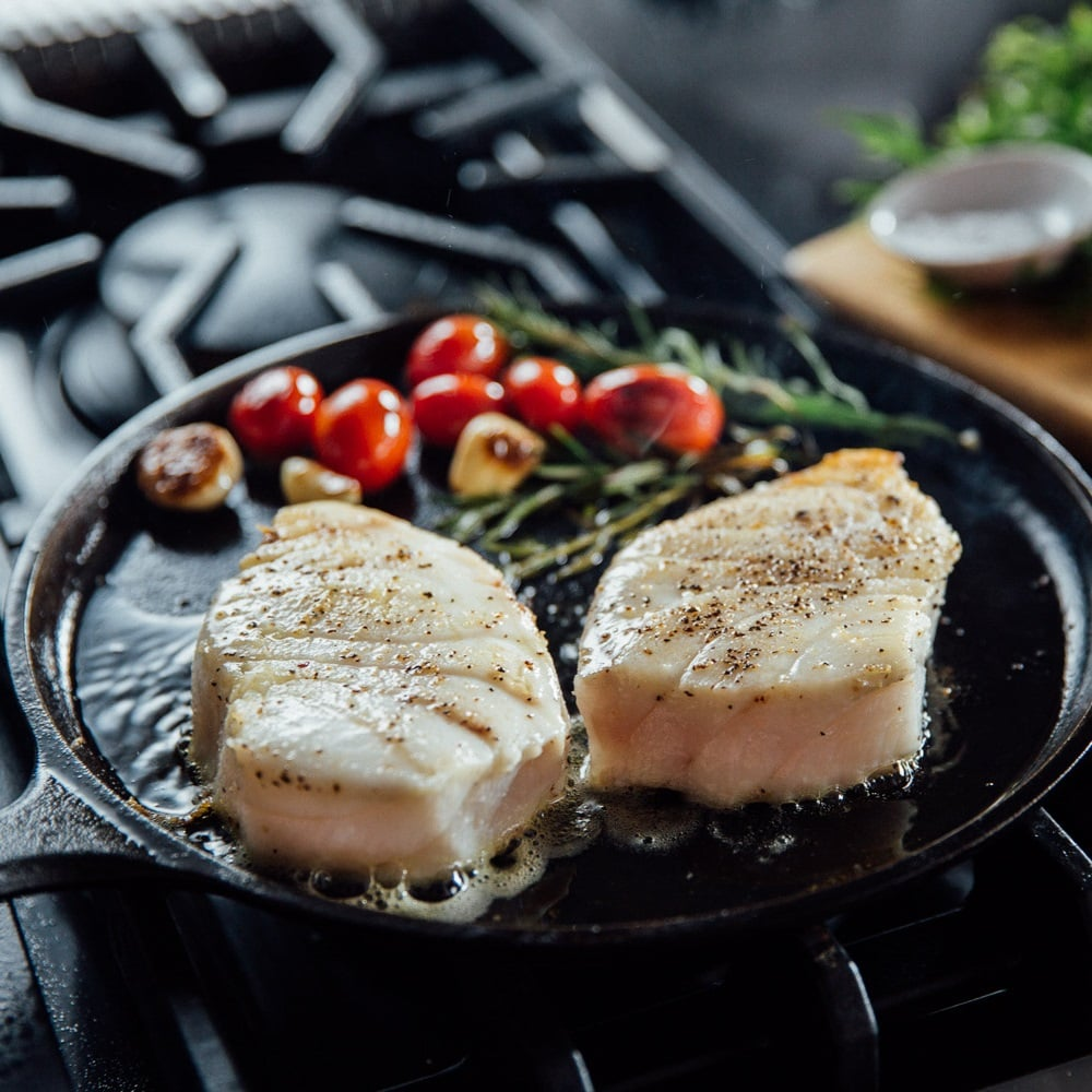 Premier Meat Company's Sustainable Sea Bass filets are perfect for grilling or searing on pan, have fresh fillets delivered straight to your door